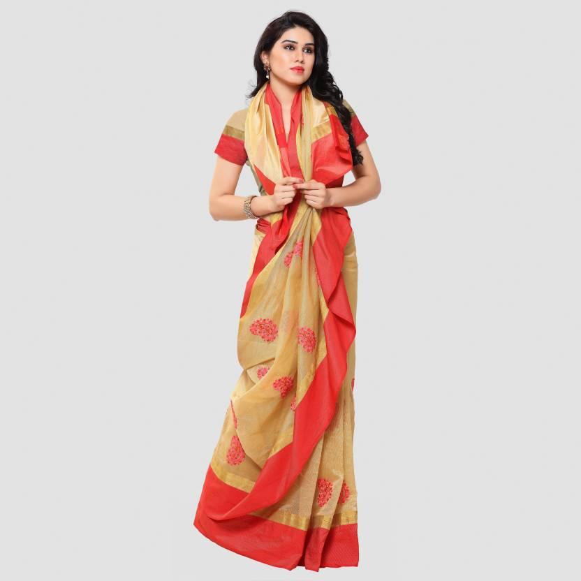 sarngin boutique Embroidered Kanjivaram Banarasi Silk Saree