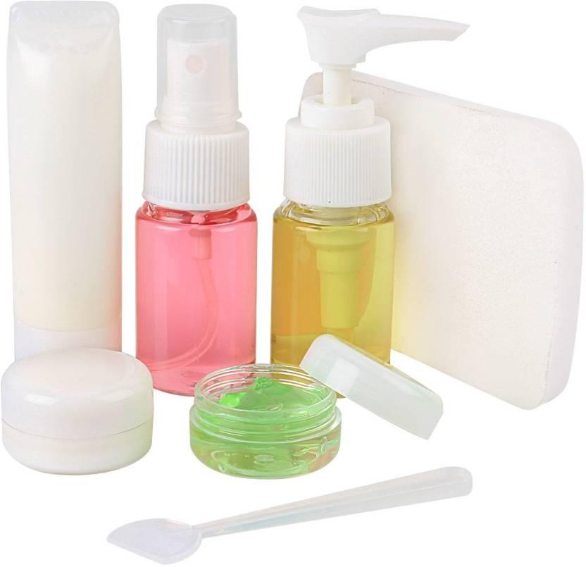 ebb2d232065a HOKIPO Clear Plastic Refillable Travel Toiletry Spray Bottles Set ...