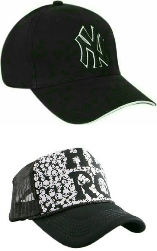 f10a37e703a Friendskart Half Net Front Side Printed Hero And Ny Baseball Cap For Boys  And Girls Cap (Pack of 2)