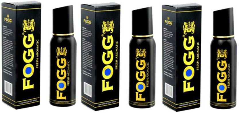 Fogg Black Collection Fresh Aromatic (Pack of 3) Deodorant Spray - For Men (120 ml, Pack of 3)
