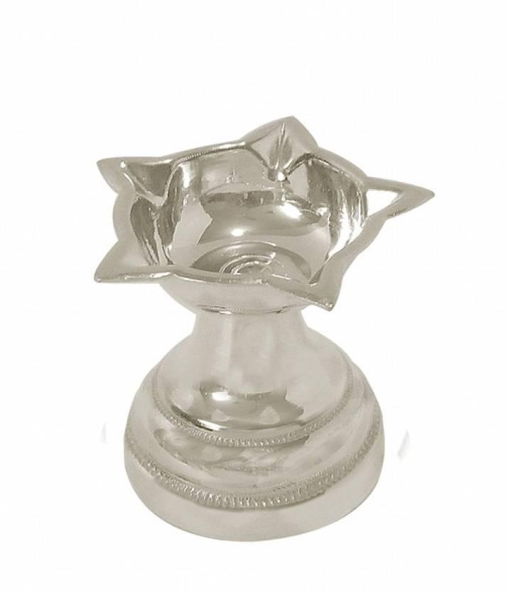 Arkina Diamonds Panchmukhi Diya Small Silver Table