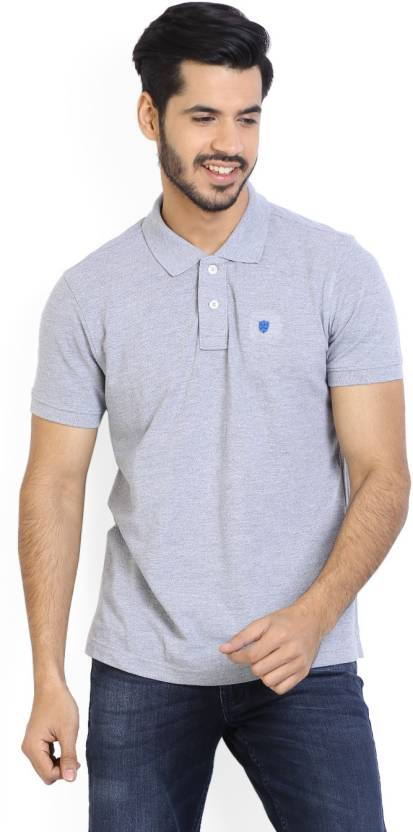 ee234764 Numero Uno Solid Men's Polo Neck Grey T-Shirt - Buy GREY MELANGE Numero Uno  Solid Men's Polo Neck Grey T-Shirt Online at Best Prices in India | Flipkart .com