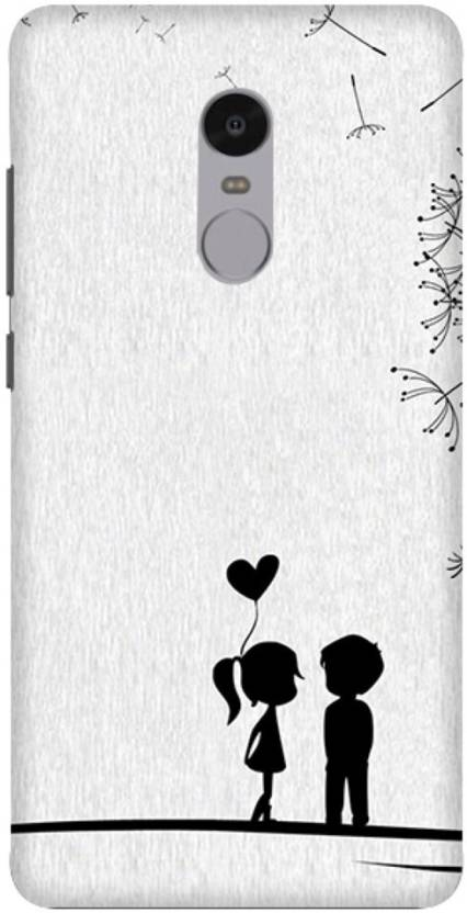 check out 7af1b c6820 Wizzart Back Cover for Couple Love Print Design Mi Xiaomi Redmi Note ...
