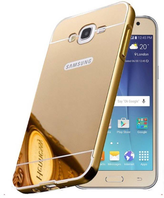 new product 7a6bc 084ad LOVEBERRY Back Cover for SAMSUNG J7 PRIME/G610 MIRROR BACK gold
