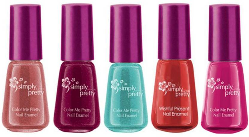 Avon Anew Color Me Pretty Nail Enamel Pink Passion, Maroon magic ...