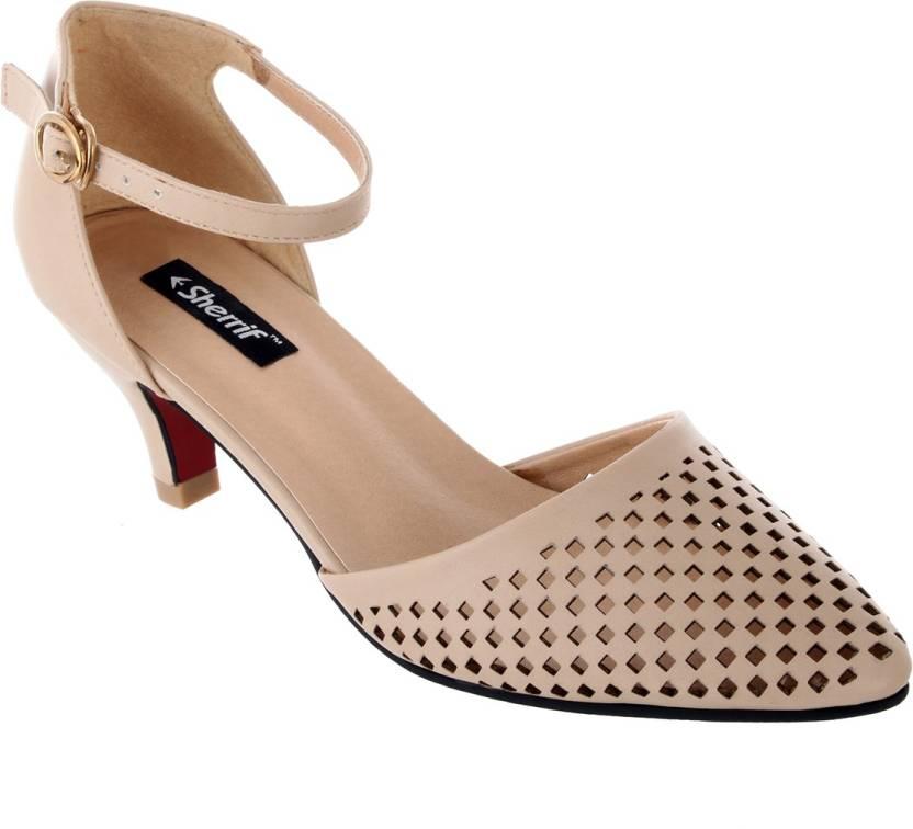 4e05d6120ee Sherrif Shoes Women BEIGE Heels - Buy BEIGE Color Sherrif Shoes Women BEIGE  Heels Online at Best Price - Shop Online for Footwears in India