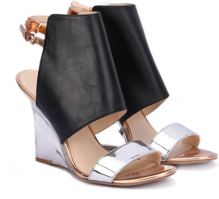 eceb09cdb Nine West Women BLACK COMBO Wedges - Buy BLACK COMBO Color Nine West Women  BLACK COMBO Wedges Online at Best Price - Shop Online for Footwears in  India ...