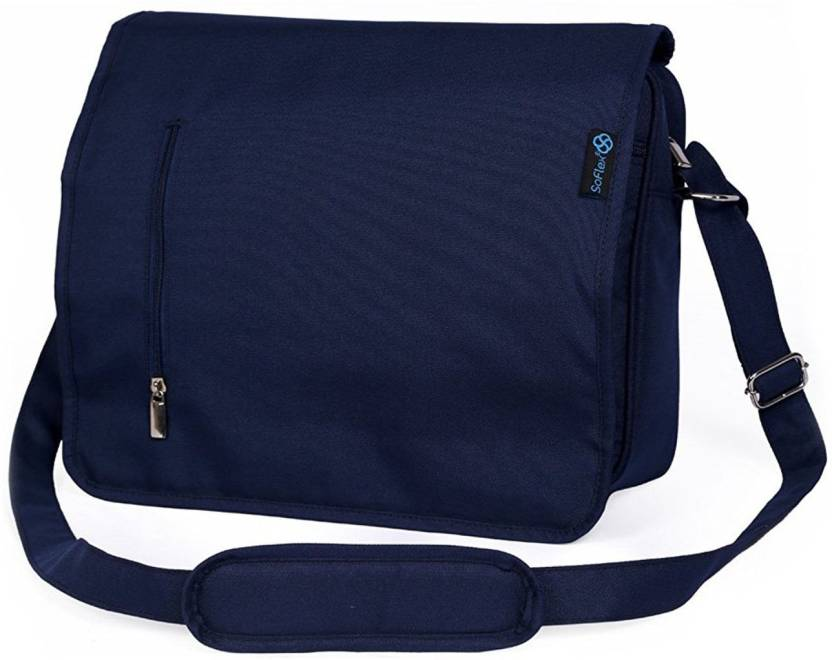 65d59daad8e9 SOFLEX Men Blue Nylon Messenger Bag NAVY BLUE - Price in India ...