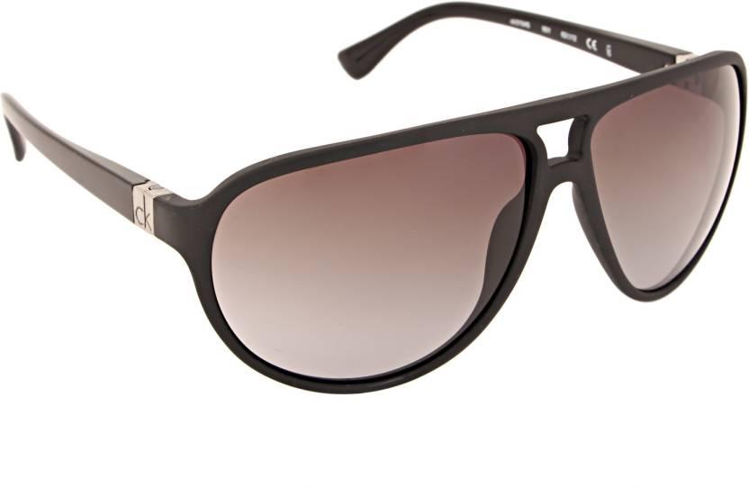 114e6709cc4 Buy Calvin Klein Aviator Sunglasses Grey For Men Online @ Best ...