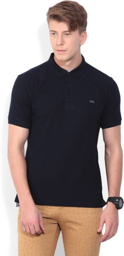 8ed0837c John Players Solid Men's Polo Neck Dark Blue T-Shirt - Buy NAVY John  Players Solid Men's Polo Neck Dark Blue T-Shirt Online at Best Prices in  India ...