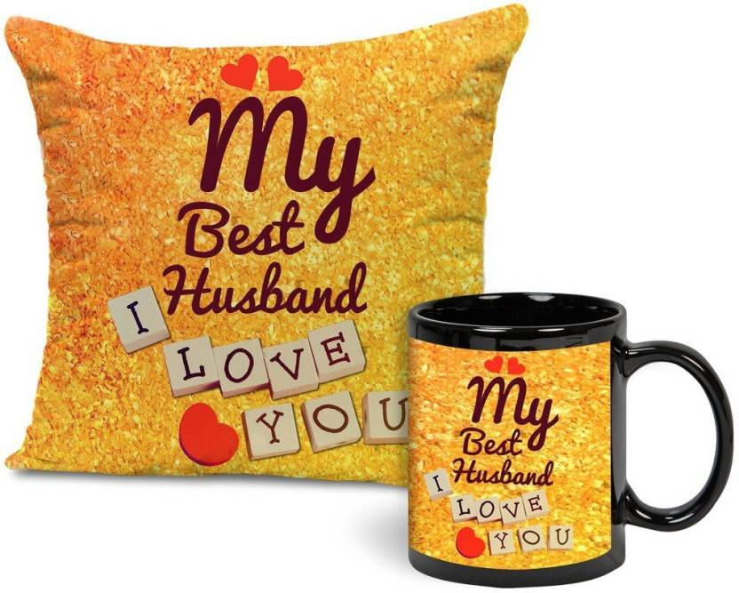 Tied Ribbons Best Gift For Husband Cushion 12 Inch X With Filler