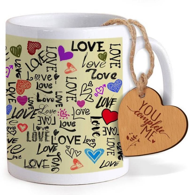 Tied Ribbons Best Birthday Gift For Girlfriend Coffee Mug325ml With Wooden Engraved Tag