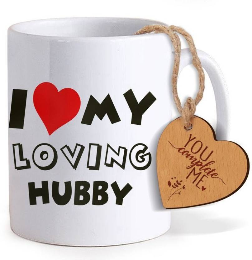 Tied Ribbons Birthday Gift For Husband Coffee Mug325ml With Wooden Tag Mug Set Price In India