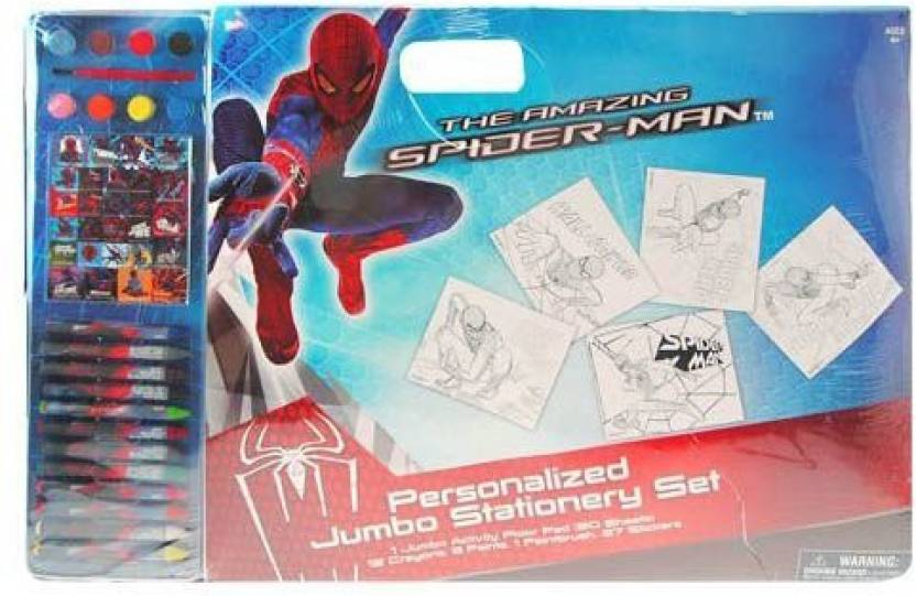 2e96c8b6e4ea0 Marvel Spiderman Jumbo Personalized Stationery Art Set Includes 1 ...