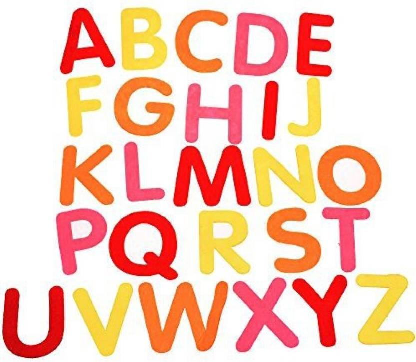 BCP Assorted Color Set A To Z Alphabet Felt Letters