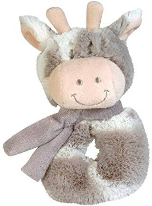Stephan Baby Gift-Boxed Velvety Plush Ring Rattle, Ginny