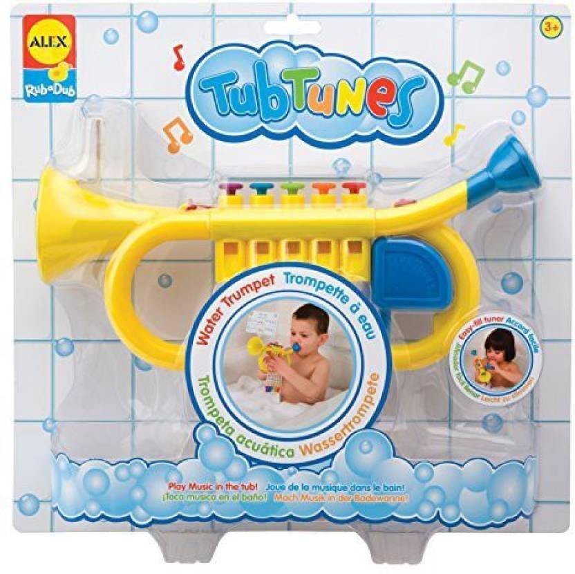 Alex Toys Rub a Dub Tub Tunes Water Trumpet Bath Toy - Rub a Dub Tub ...