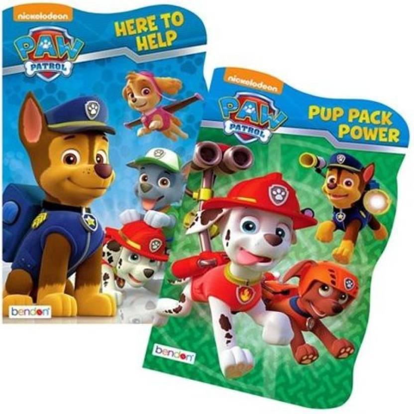 Nick Jr Paw Patrol Board Book Set - 2 Shaped Board Books Bath Toy ...
