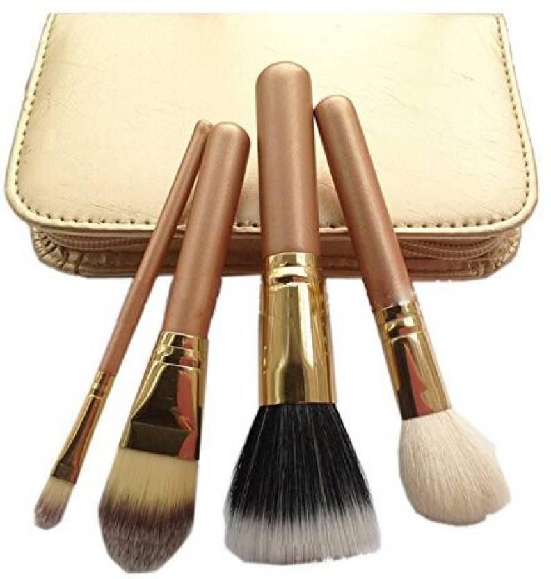 Iebeauty New Women High Quality Pro Cosmetics Makeup Brush Set Champagne Bag 14928cb16