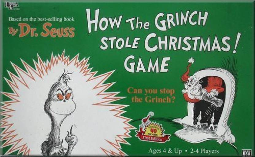 university games how the grinch stole christmas board game - How The Grinch Stole Christmas Games