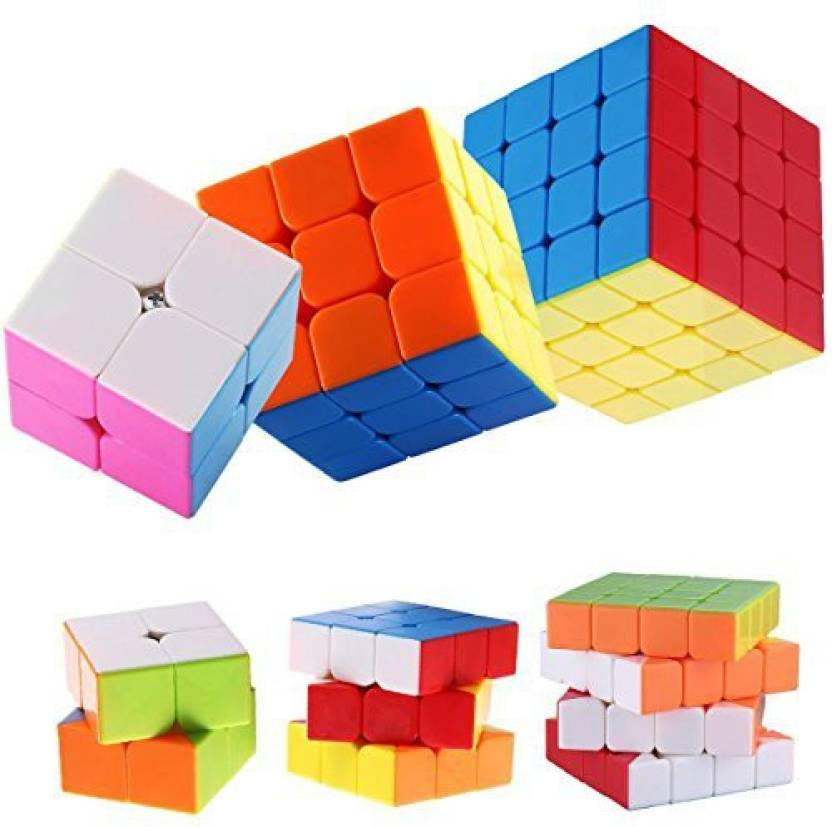 Dreampark 3-Pack Stickerless Magic Cube Puzzle - 2X2 Speed