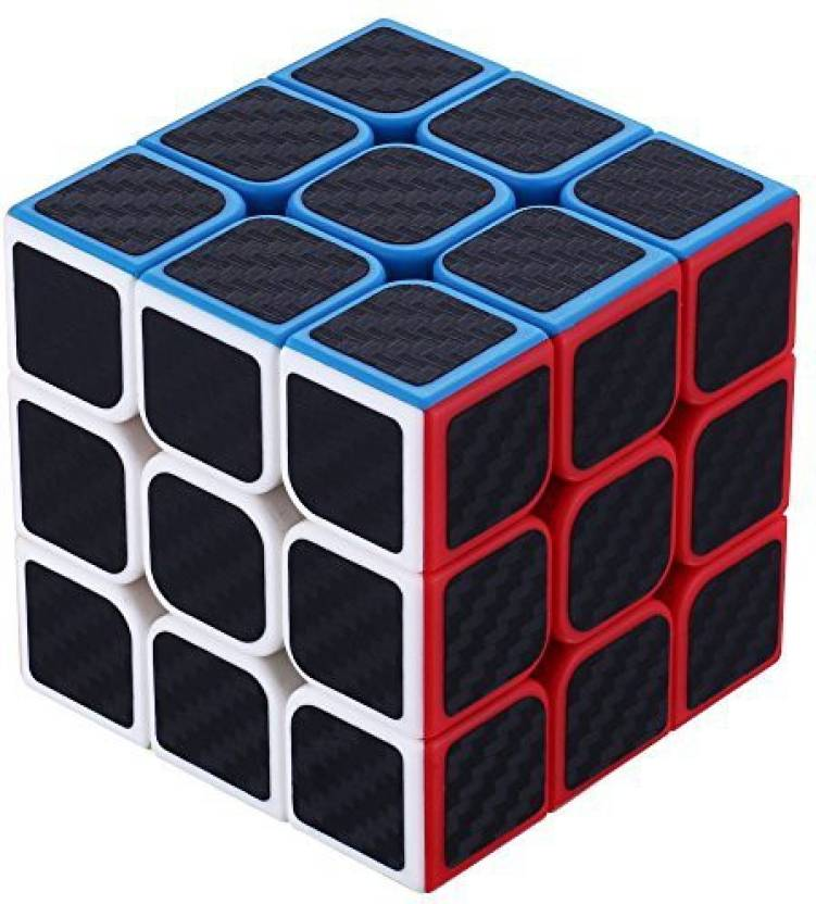 Dreampark 3X3X3 Speed Cube Carbon Fiber Sticker For Smooth Magic Cube Puzzles (1 Pieces)