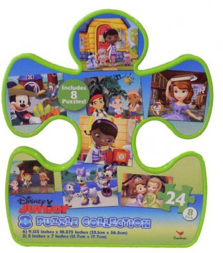 Disney Tub Shaped Junior Jigsaw Puzzle, 8-Pack - Tub Shaped