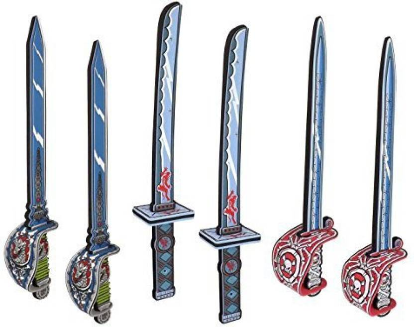 Liberty Imports Warrior & Pirate Foam Swords 6 Pack Large