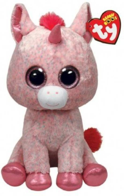 c845b9bf533 Ty Beanie Boos Rosey - Unicorn Large (Justice Exclusive) - 10 inch  (Multicolor)