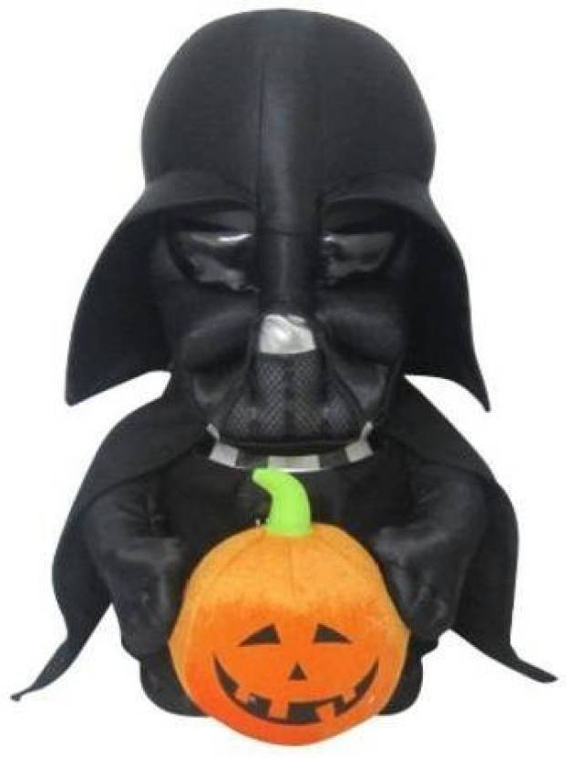 Star Wars Halloween Greeter Darth Vader Holding Pumpkin Plush Toy