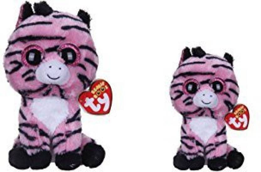 a36a1fb5ab6 Ty Beanie Boos New Set Of 2 Zoey The Zebra Plush Toys. Includes Regular And  Small Sizes! - 4.4 inch (Multicolor)