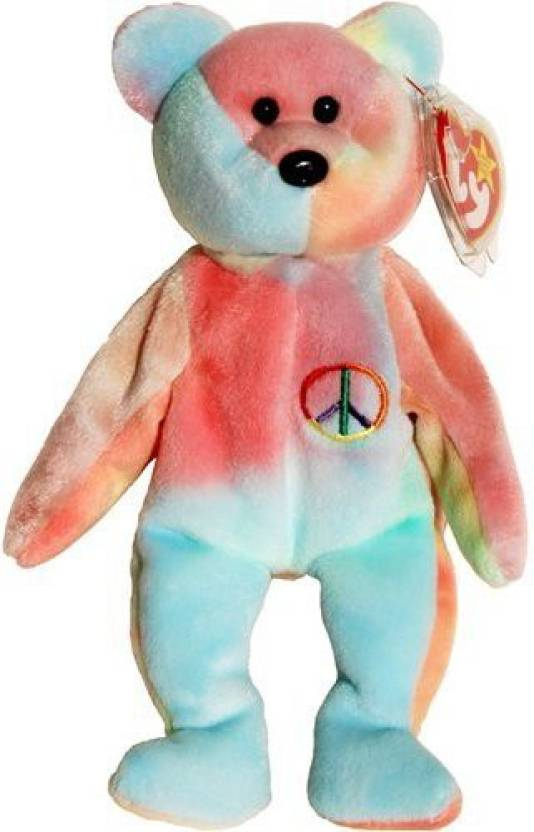 41a3d19a3b3 Beanie Babies Ty - Peace (Pastel) The Ty-Dyed Teddy Bear - 1.5 inch ( Multicolor)