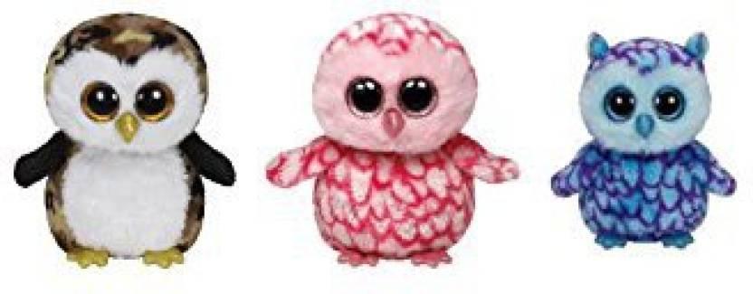 Ty Beanie Boos Set Of Small (6-In) 3 Owls  Oscar 8bf0abb3b727