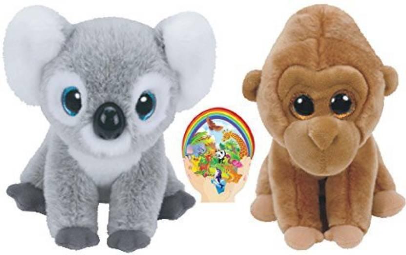 387777267ae TY Beanie Babies Koala Kokoo And Gorilla Monroe Wild Life Gift Set Of 2  Plush Toys