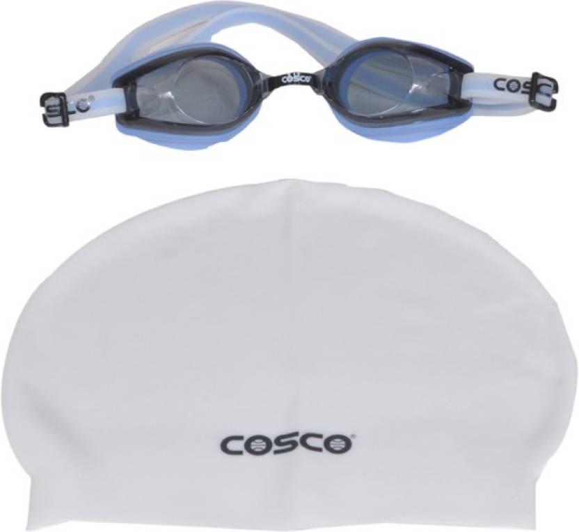 b4913daaedcb Cosco SWIMMING GOGGLES (AQUADASH) with CAP PRO COMBO Swimming Cap ...
