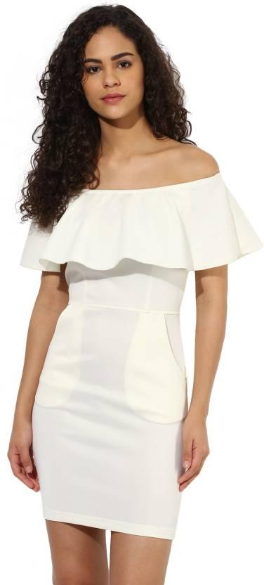 81f601d21c Texco Women s Bodycon White Dress - Buy Texco Women s Bodycon White ...