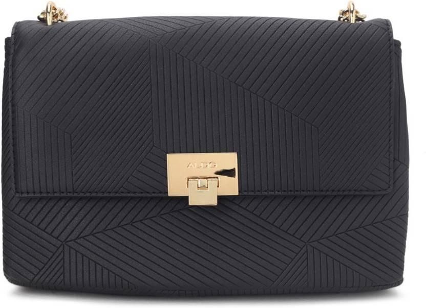f8cfcb83b9d Buy ALDO Sling Bag Black W Lt Gold Hw Online   Best Price in India ...