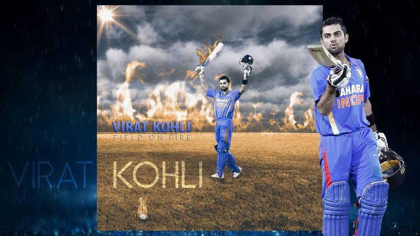 Virat Kohli Pic On Fine Art Paper Hd Wallpaper Poster Fine Art Print