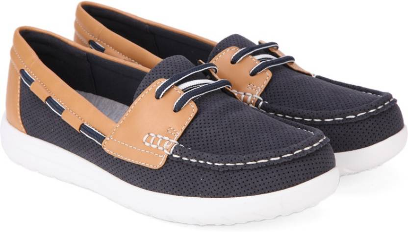ba16493a7 Clarks Jocolin Vista Navy Boat Shoes For Women - Buy Navy Color ...