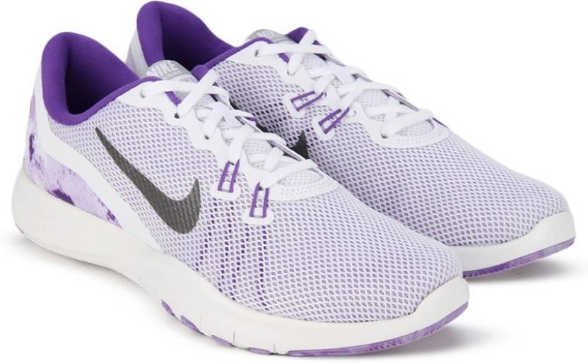 4bb991191329c Nike W NIKE FLEX TRAINER 7 PRINT Training   Gym Shoes For Women (White)