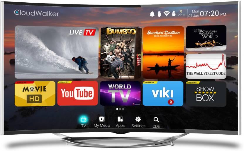 CloudWalker Cloud TV 139cm (55) Ultra HD (4K) Smart, Curved LED TV