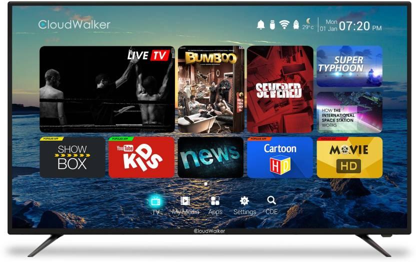 CloudWalker Cloud TV 139cm (55) Ultra HD (4K) Smart LED TV