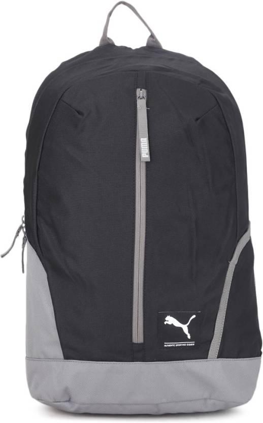 5038f1a1494 Puma Zipper 26 L Laptop Backpack Black-Grey - Price in India ...