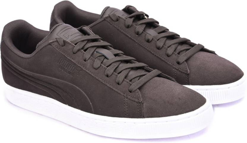 ac6b6fcf310 Puma Suede Classic Embossed Sneakers For Men - Buy Black Coffee ...