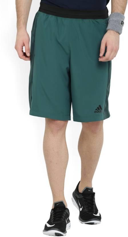 f757938b9 ADIDAS Solid Men's Dark Green Sports Shorts - Buy MYSGRN ADIDAS Solid Men's  Dark Green Sports Shorts Online at Best Prices in India | Flipkart.com