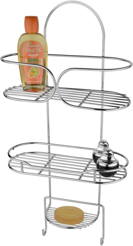 Kitchen Design Bathroom Shelf Multipurpose Rack Stainless Steel Wall Number Of Shelves 3 Silver