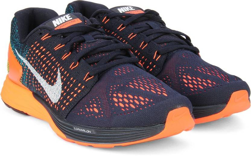 69381c987e508 Nike LUNARGLIDE 7 Running Shoes For Men - Buy Black Orange Color ...
