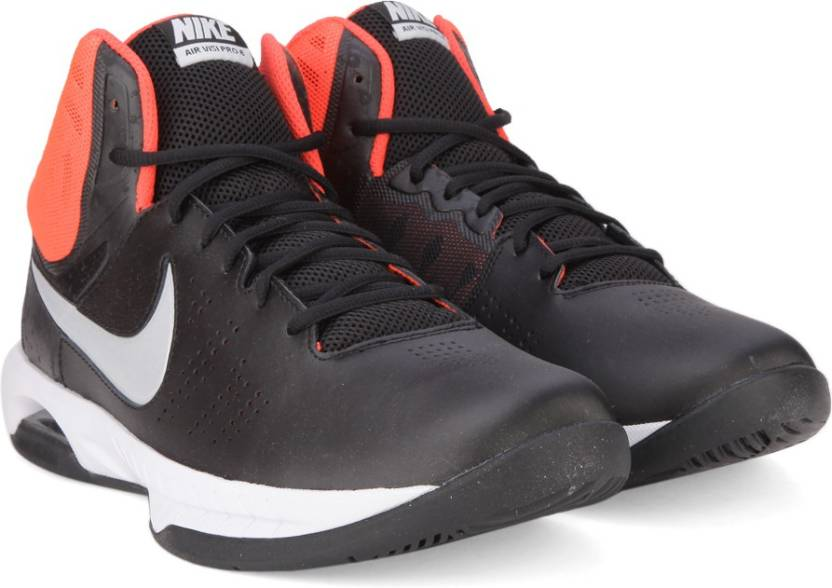 newest 2641f 7f2ed Nike AIR VISI PRO VI Basketball Shoes For Men (Black, White)