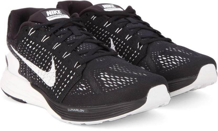 newest d4217 48e0f Nike LUNARGLIDE 7 Running Shoes For Men (Black, White)