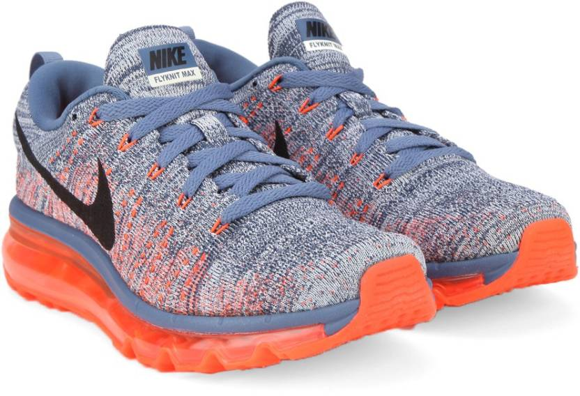 pretty nice f0042 c91ce Nike FLYKNIT AIR MAX Running Shoes For Men - Buy Grey Red Blue Color ...